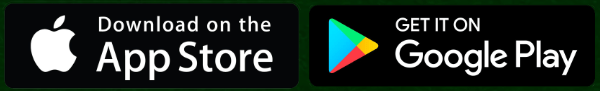 Download application on Google Store or Android Store - logo of Apple and Android on green background